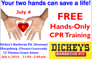 Free Restaurant CPR at Dickey's BBQ, by Newnan CPR