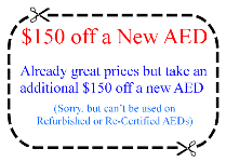 $150 off AED equipment