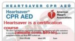 Heartsaver CPR certification card