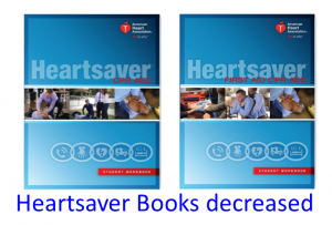 Heartsaver Course price increase, book price decreases
