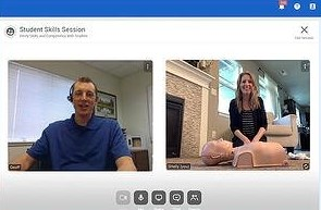 Student and Instructor communicate using video for Remote Skills Verification