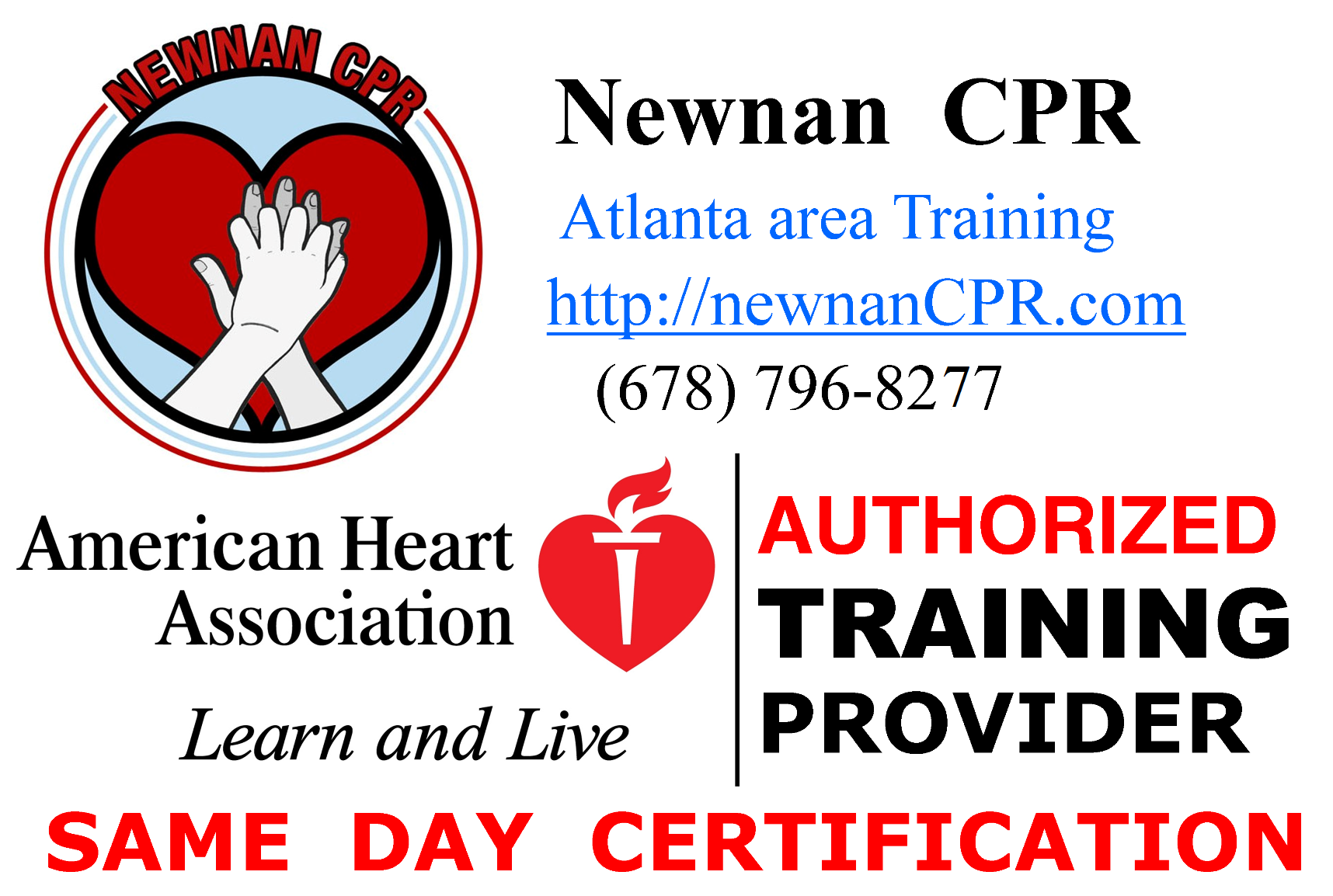 Newnan CPR is an authorized AHA Training Site